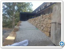 Rock wall and pathway